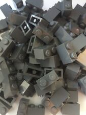 Lego 1x2 Dark Gray Bricks Gray New Lot of 50