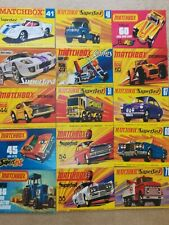 Matchbox Set of Postcards, UNIQUE and only available on eBay. Select Set 1/2or3.