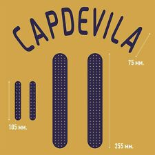 Capdevila 11. Spain Away football shirt 2008 - 2010 FLEX NAMESET NAME SET PRINT