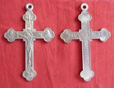 ancienne croix pendentif CHRIST crucifix médaille religieuse souvenir de mission