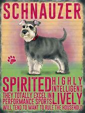 vintage style plaque murale en métal chien schnauzer rétro IMAGE cadeau cuisine