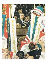 "/""THE DEBATE/"" Primary Democratic Republican 2020 elections Norman Rockwell print"
