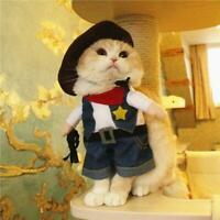 Pet Dog Costume Cowboy/Nurse Clothes For Cats Halloween Dress Up Apparel Kit