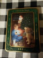 Sealed never open Vintage 1994 Oreo Unlock The Magic Christmas Metal Cookie Tin