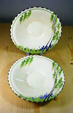 """Burleigh Ware Zenith """"Bluebell"""" Two Saucers"""