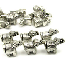20Pcs Alloy Metal Happy Lucky Elephant Beads Finding