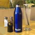 Blue Stainless Steel Insulator Beer Bottle Cooler Cozy Cold Hide A Beer Koozie