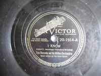 "78rpm 10"" RCA Victor Miller I Know 20-1914 Everybody Loves My Baby 198-5AJ"