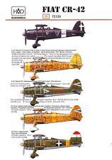 Hungarian Aero Decals 1/72 FIAT CR-42 Italian & Hungarian WWII Fighter