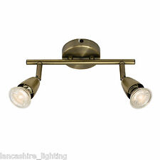 Endon Lighting 60999 Amalfi 2lt Bar 50w Antique Brass Effect Plate Indoor Spot L