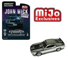 "Greenlight ""John Wick"" 1969 Ford Mustang Boss 429 Chrome Edition 1/64 51228"
