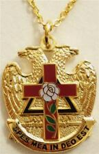 ROSE CROIX Masonic Eagle Scottish Rite Pendant Necklace