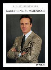 Karl Heinz Rummenigge Autogrammkarte Bayern München 1995-96 Original  + A 193433
