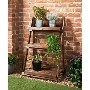 New Elegant Design Traditionally Constructed Burntwood 3 Tier Garden Shelf N-21