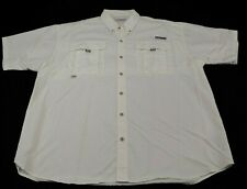 Columbia Pfg short sleeve button front hunting/ fishing shirt,size Xl, White (I)