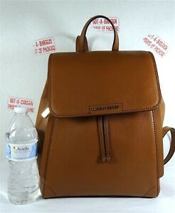 Michael Kors Ginger Luggage Pebbled Leather Medium Drawstring Backpack