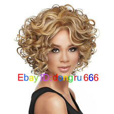 Fashion wig New Charm Women's short Mix Blonde Curly Natural Hair Full wigs