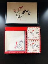 New ListingVtg Novelty Cocktail Napkins/Coasters Styled by Fruend-Mayer - 1960s - England