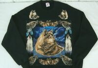 VTG JERZEES WOLVES Sweatshirt Unisex XL Pullover Sweater Crew Neck WOLF USA