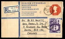 GREAT BRITAIN FIELD POST OFFICE 961 NOVEMBER 15 1973 REGISTERED COVER TO BRISTOL