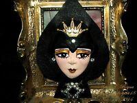 Artisan Arturo E.Reyna QUEEN OF SPADE LADY FACE HEAD Hand SCULPT BROOCH/Pin