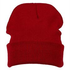 Hiver Bonnet En Tricot Ski Chapeau chaud (vin rouge) R4H1