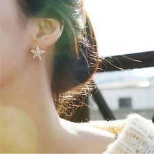 Unique Handmade Pearl Rhinestone Starfish Sea Star Ocean Beach Stud Earrings