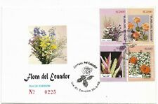 ECUADOR 1998 FLOWERS FLORA PLANTS 4 VALUES ON DECORATED FIRST DAY COVER FDC SPD