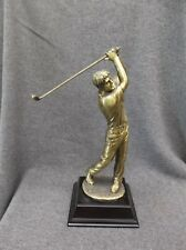 male Golf swing trophy gift award metal bronze color G2703
