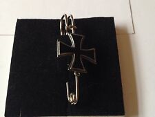 "Iron Cross dr61 Scarf , Brooch and Kilt Pin Pewter 3""  7.5 cm"