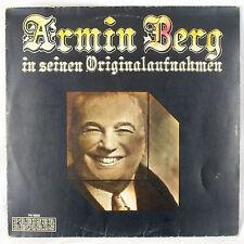 Armin Berg In Seinen Originalaufnahmnen Preiser Reocrds Austria Cabaret Comedy