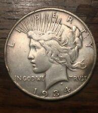 1934-S San Francisco Mint Silver Peace Dollar Better Date