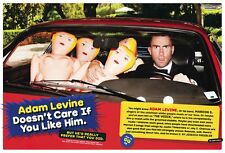 Adam Levine 6pg GQ magazine feature, clippings