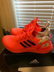 womens adidas ultra boost size 6.5 bright coral and black