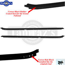 84-87 Grand National GN Correct Style Window Felt Wiskers Dew Sweeps BLACK OUTER