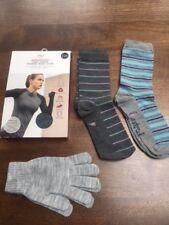 M&S Merinotec long sleeve thermal base layer size 16, Lovestruck socks & gloves