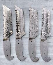 04x-HUNTING STAG USA-CUSTOM HANDMADE A LOT 4x DAMASCUS BLANK-BLADES KNIFE-MAKING