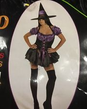 ** SALE ** Enchanted lilac & black sexy witch costume size M UK 12-14 Halloween