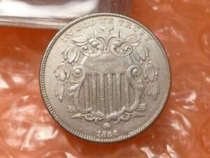 1866 Shield Nickel With Rays High Grade #4A