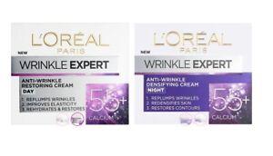 L'Oreal Paris Wrinkle Expert Restoring Day & Densifying Night Cream 55+ 2 x 50ml