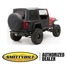 Smittybilt Replacement Soft Top w/ Half Door Skins 87-95 Jeep Wrangler YJ Black