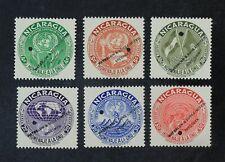 CKStamps: Nicaragua Stamps Collection Scott#C340-C345 Mint H OG Punched Hole