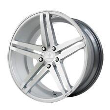 22x9 Verde Parallax 5x120 +20 Silver/Machined Rims Brand New Set