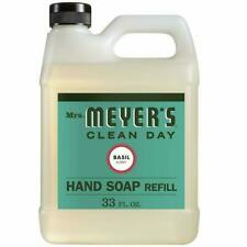 Mrs. Meyers Clean Day Liquid Hand Soap Refill Liquid 33 Oz. Basil Scent