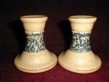 Pair Pfaltzgraff Folk Art AMERICA Small Candlesticks/Candle Holders - Set of 2