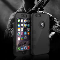 Armor Shockproof Rugged Hybrid Rubber Hard Cover 3 Layer Case For iPhone 6 Plus