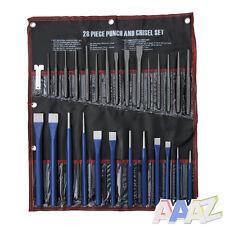 28pc Pin Taper Center Punch & Cold Chisel Set Gauge Workshop Garage Tool