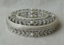 Jewelry Boxe  Pewter / Silver with Pearls