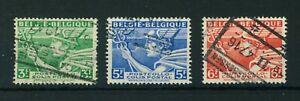 Belgium 1939 Parcel Post Inscribed 'BELGIQUE-BELGIE' or vice-versa stamps. Used.