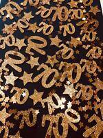 Rose Gold Table Confetti 70 - Any Age, Various Colours - Birthday, Tableware